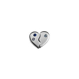 Piece of my Heart charm from Stow Lockets featuring cubic zirconia