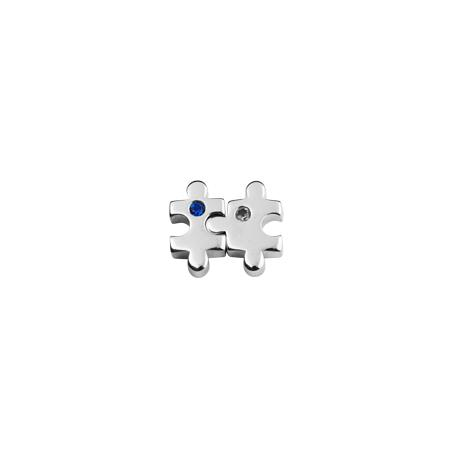 Puzzle charm from Stow Lockets featuring cubic zirconia