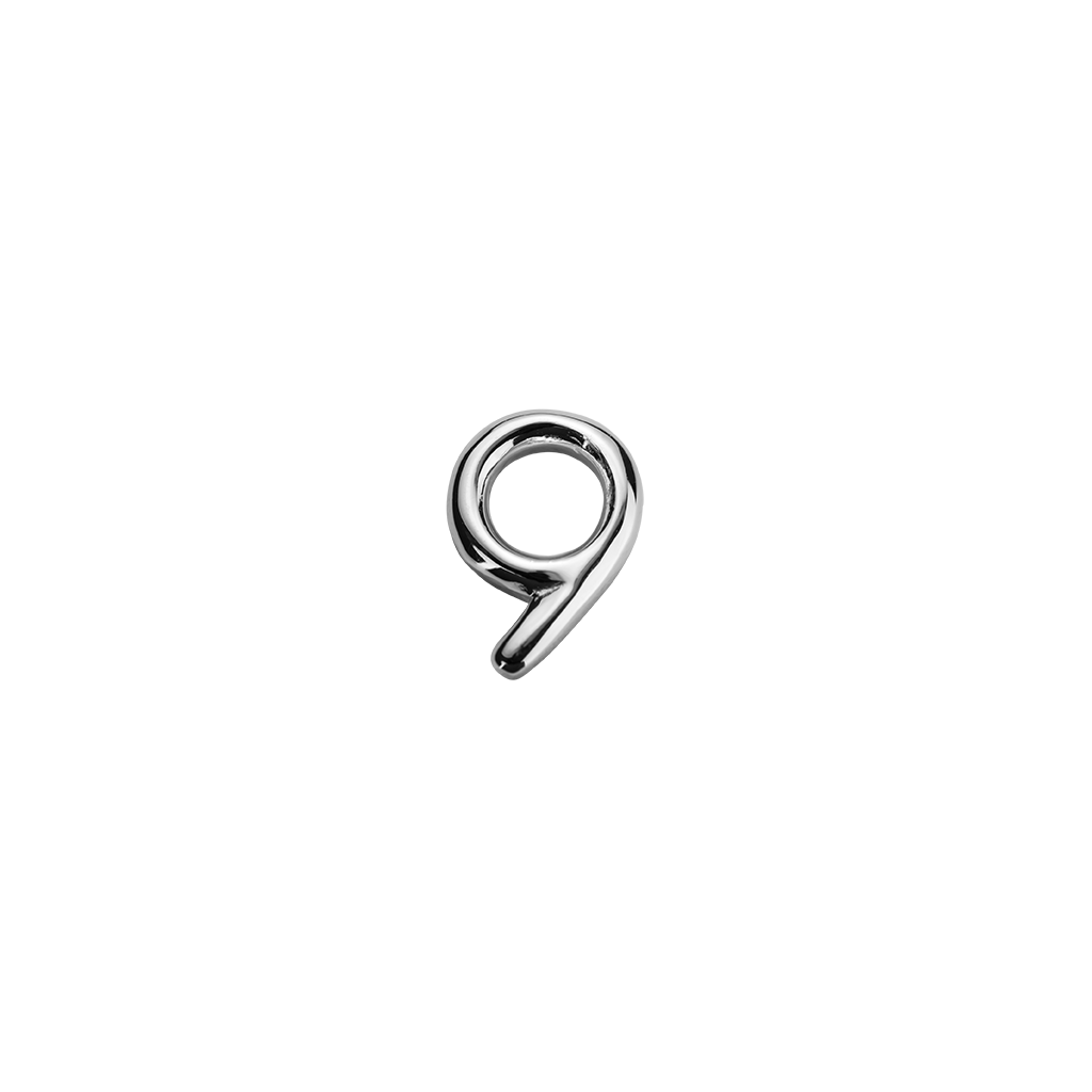 Stow Lockets sterling silver number 9 charm