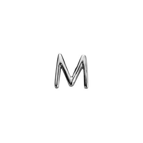 Stow Lockets sterling silver M silver letter charm