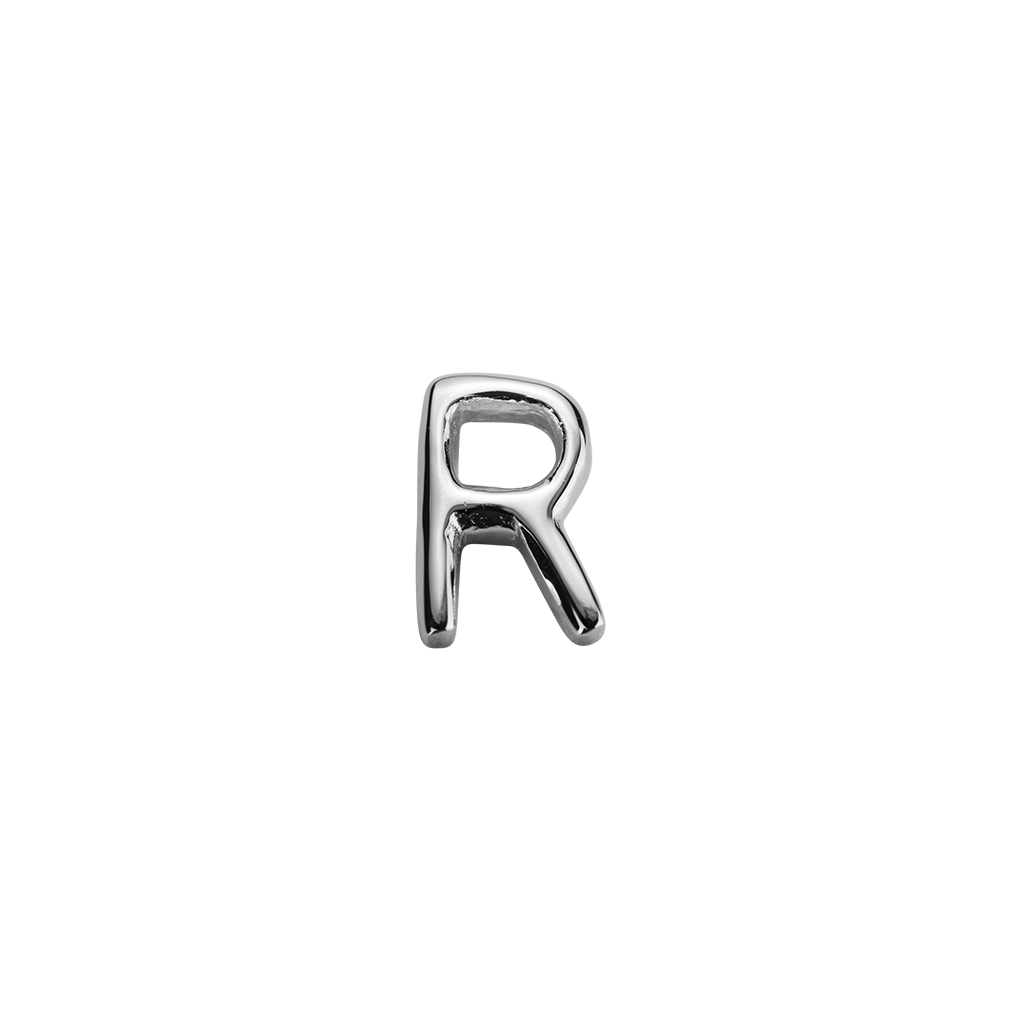 Stow Lockets sterling silver R silver letter charm