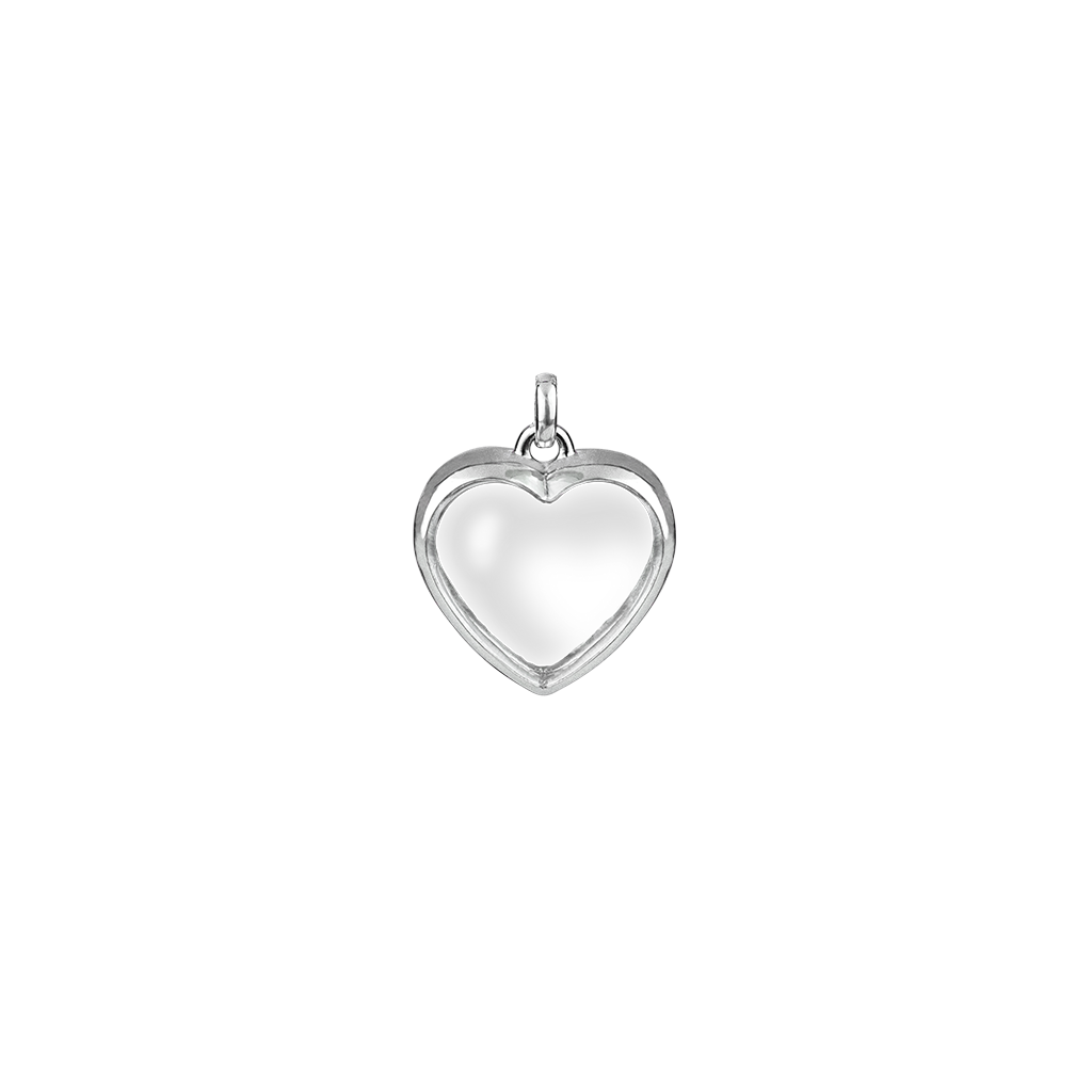 Stow Lockets medium silver heart locket