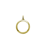 Stow Lockets 28mm classic gold locket pendant