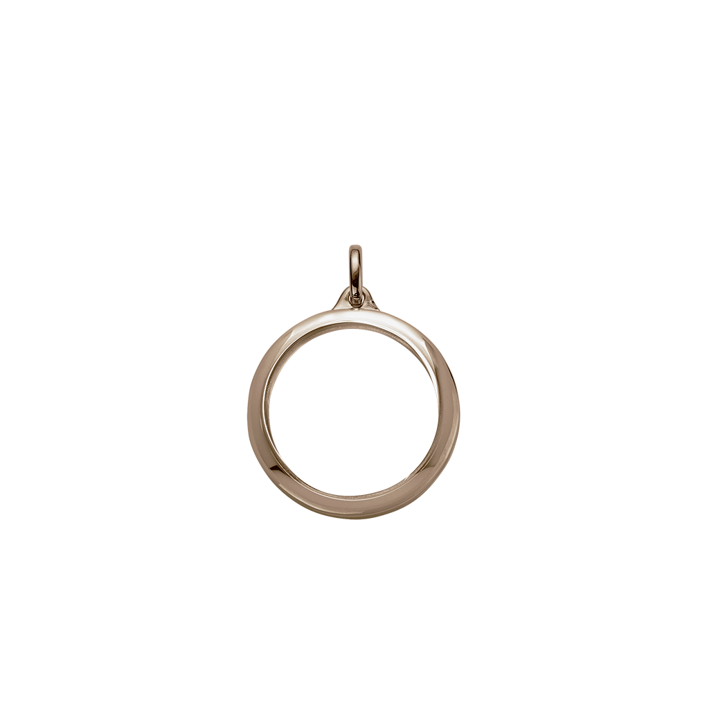 Stow Lockets 28mm classic rose gold locket pendant