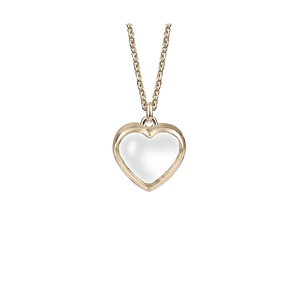 Stow Lockets medium rose gold heart locket pendant