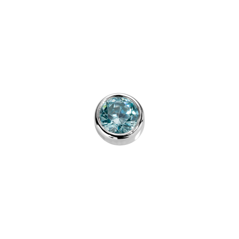 Courage - Aquamarine CZ charm