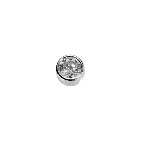 Love - White Diamond CZ charm