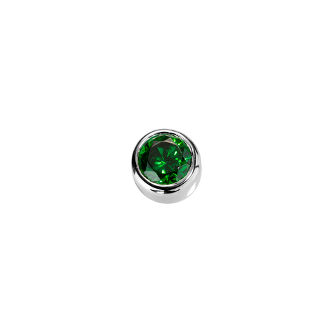 Stow Lockets sterling silver Balance - Emerald CZ charm