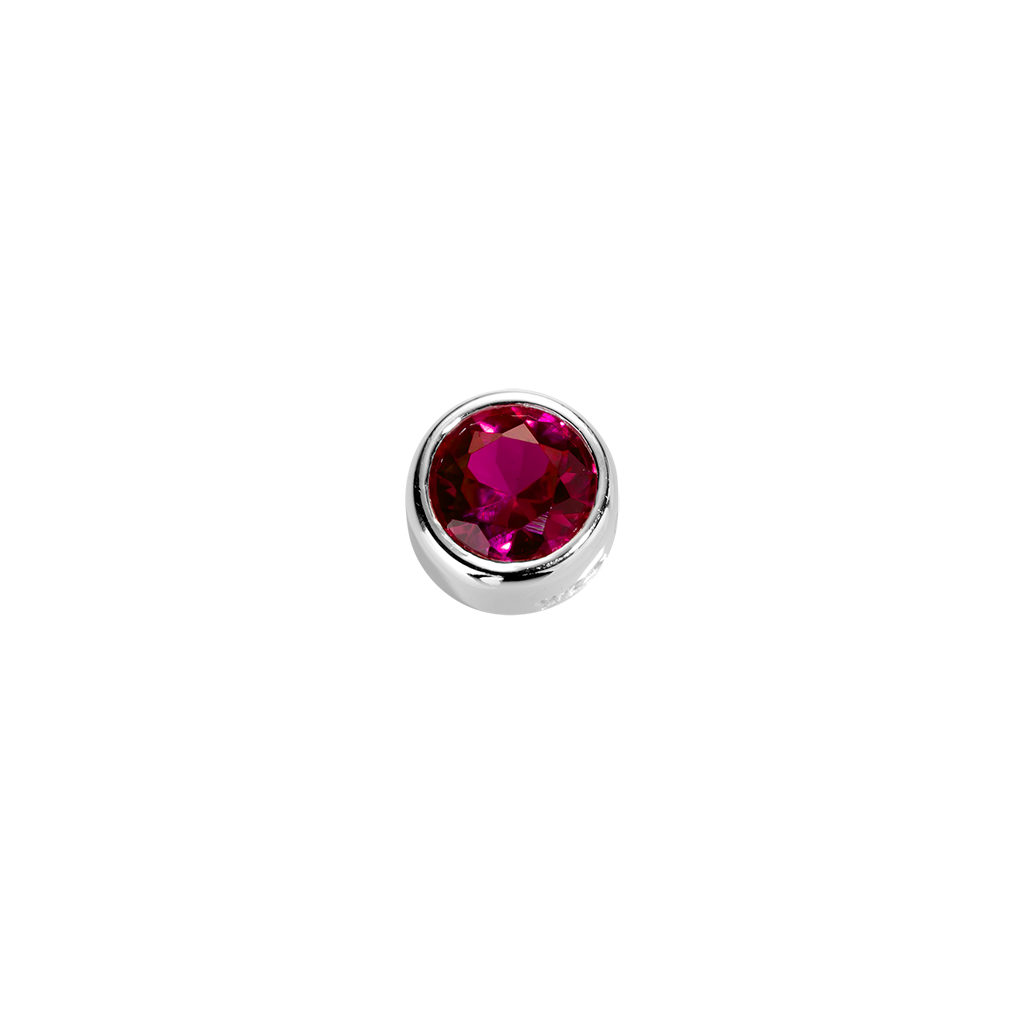 Stow Lockets sterling silver Passion - Ruby CZ charm