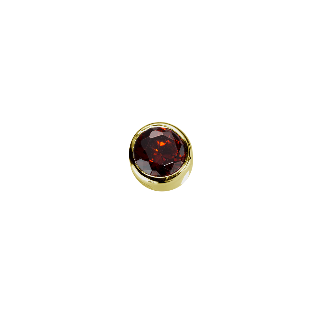 Stow Lockets solid 9ct Gold Happiness - Garnet CZ charm