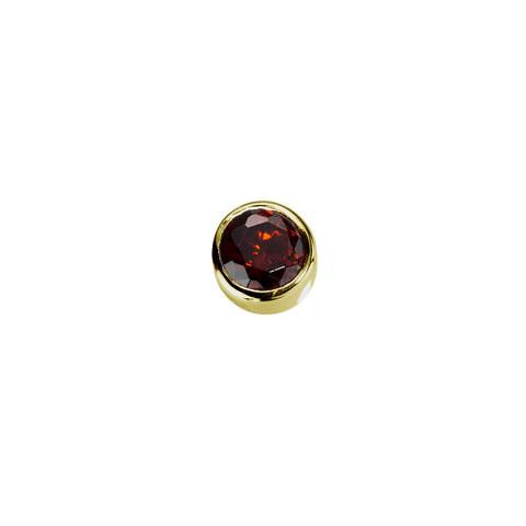 Gold Happiness - Garnet CZ charm