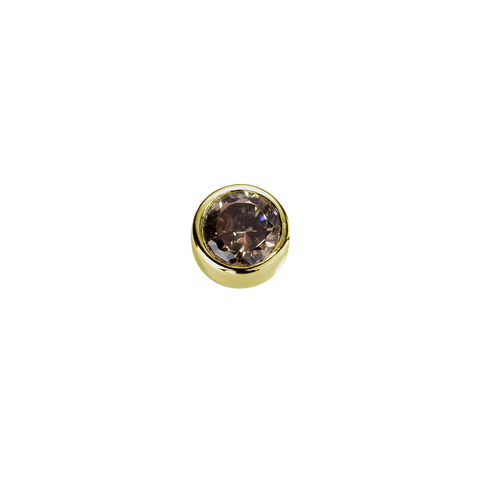 Gold Strength - Brown Topaz CZ charm