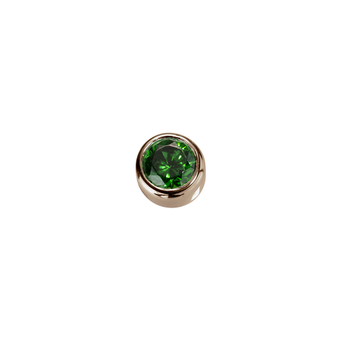 Stow Lockets solid Rose Gold Balance - Emerald CZ charm