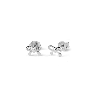 Stow Lockets sterling silver Bow Stow stud earrings