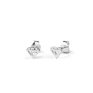 Stow Lockets sterling silver Diamond stud earrings