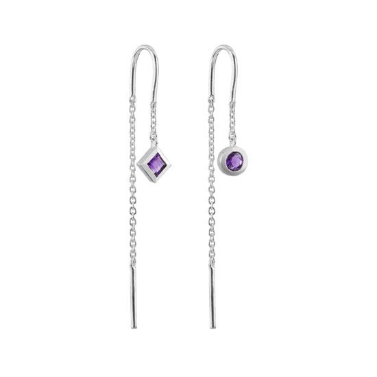 Tranquility Thread earrings featuring Amethyst