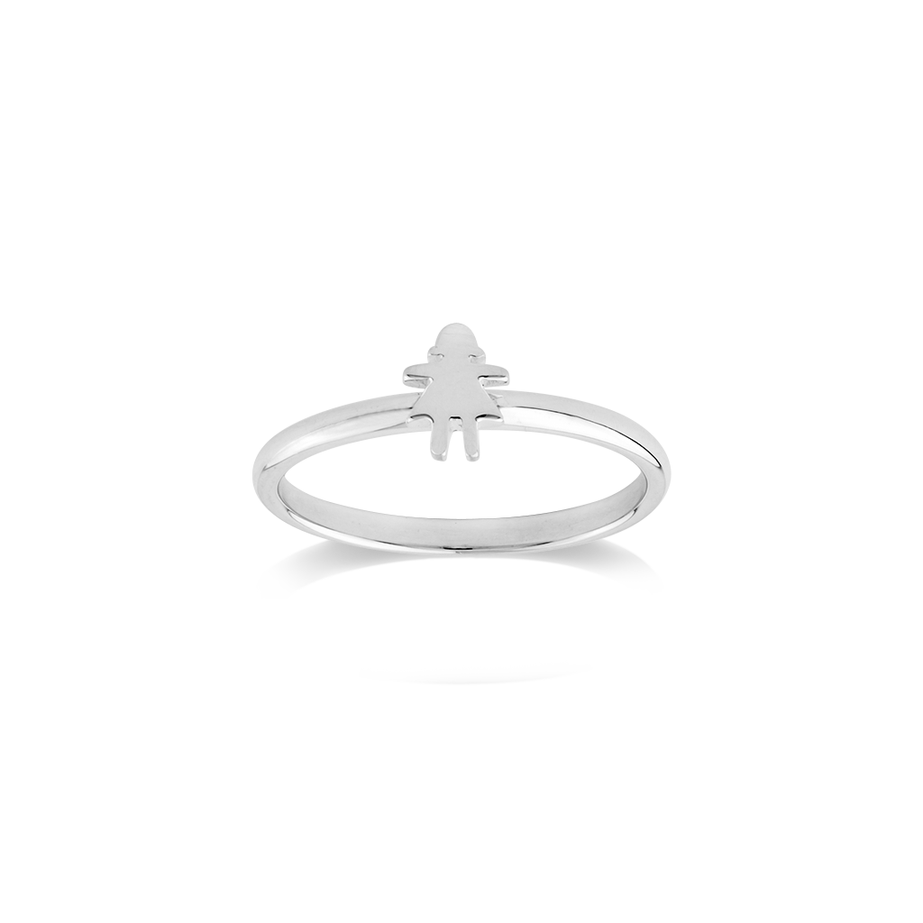 Stow Lockets sterling silver Stowaway Girl stacker Ring - Daring