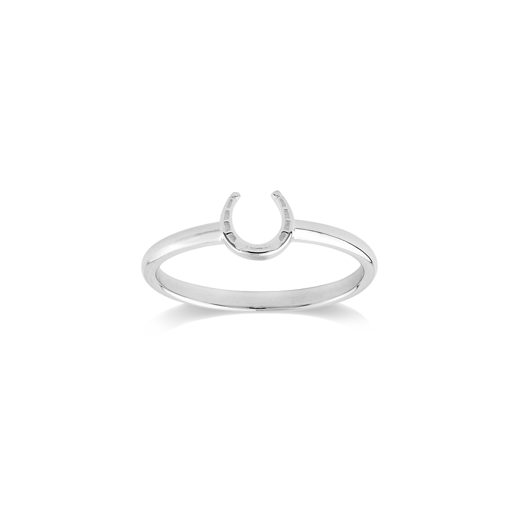 Lucky Horseshoe silver ring - Good luck