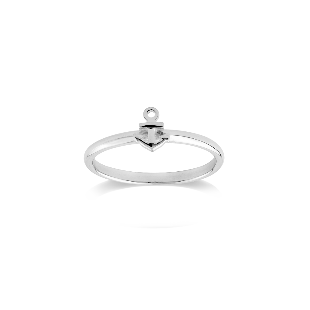 Anchor silver ring - Strength
