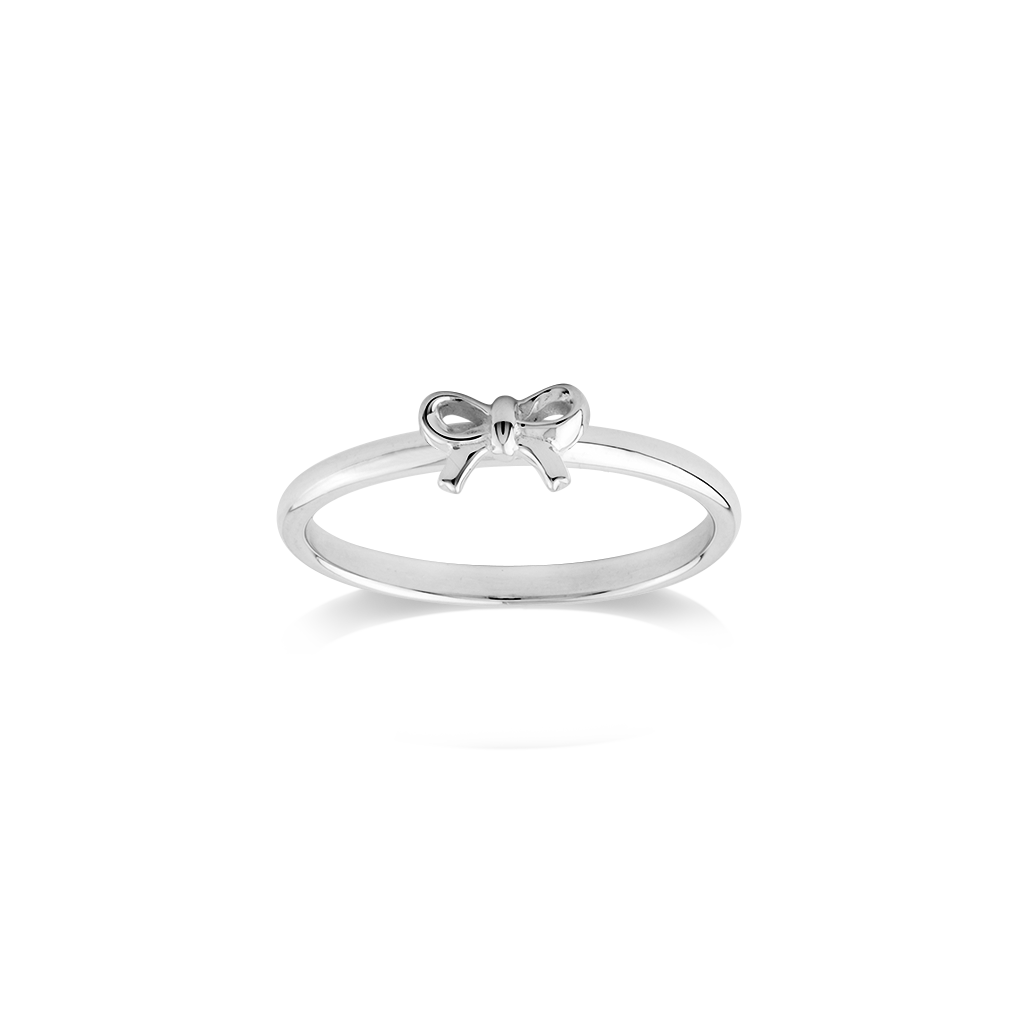 Stow Lockets sterling silver Bow stacker ring - Gifted