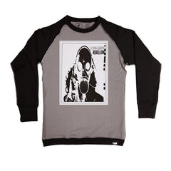 Rebellion Gas Mask White Crewneck