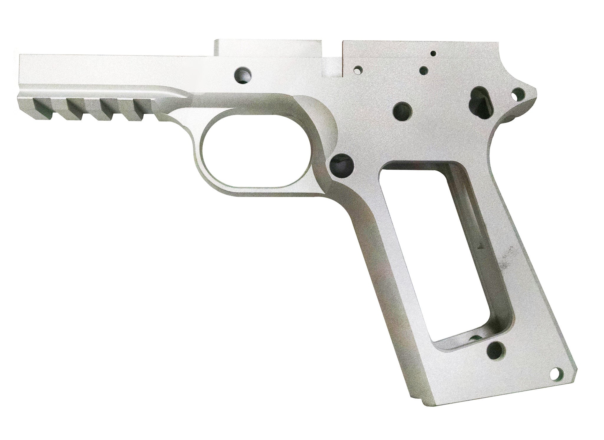 1911 80% FULL SIZE GI FRAME 7075 BILLET ALUMINUM SMOOTH GRIP W/RAIL ...