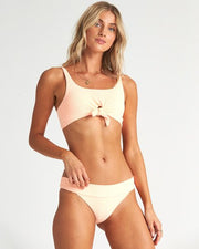 Billabong Under The Sun Tropic Bikini Bottom Neon Peach