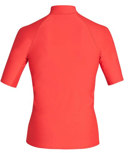 Billabong Union S'S Performance Rashguard Red