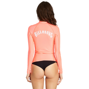 Billabong Surf Dayz Performance Fit L'S Rashguard Sunkissed Coral