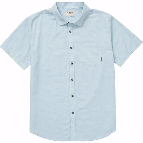 Billabong All Day Helix Short Sleeve Shirt Powder Blue