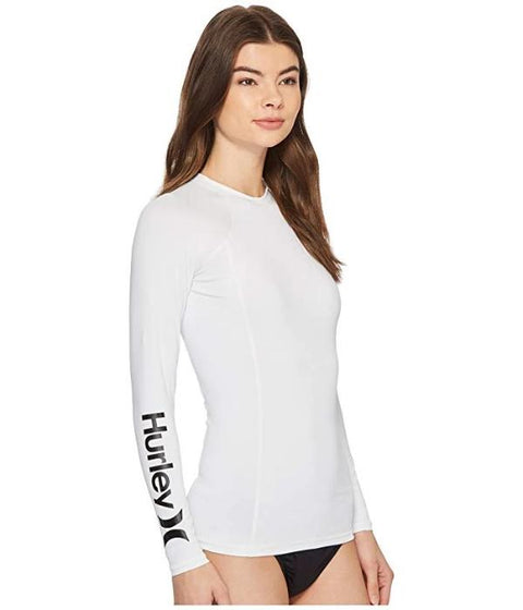 Hurley One & Only Longsleeve Rashguard White