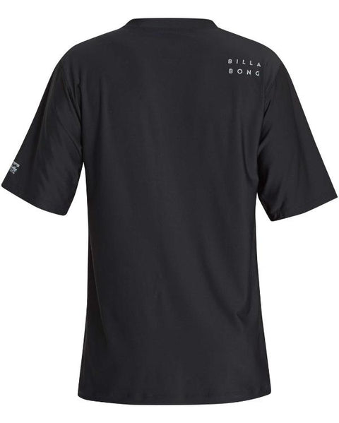 Billabong Stacked Shortsleeves Loose Fit Rashguard Black