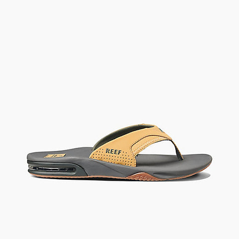 Reef Fanning Sandals Charcoal / Tan
