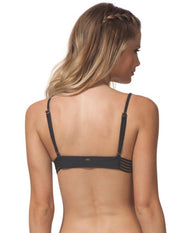 Rip Curl Illusion Fixed Tri Bikini Top Dark Grey