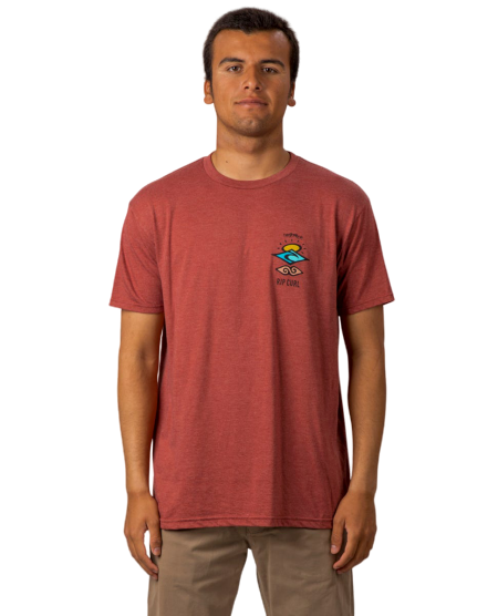 Rip Curl Search Roots Premium T-Shirt Brick