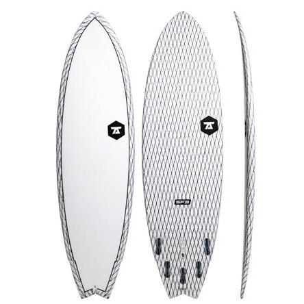 7S Superfish 3 Surfboard 6'9 White Clear