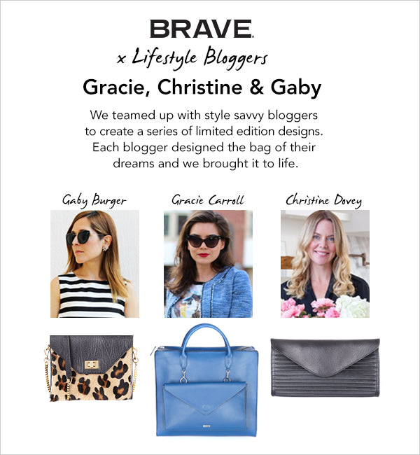 brave leather blogger collection