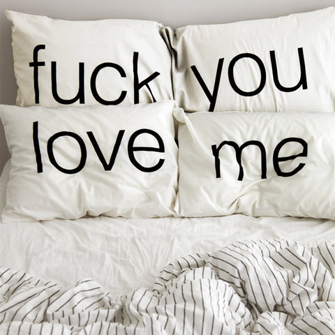fuck you love me pillows