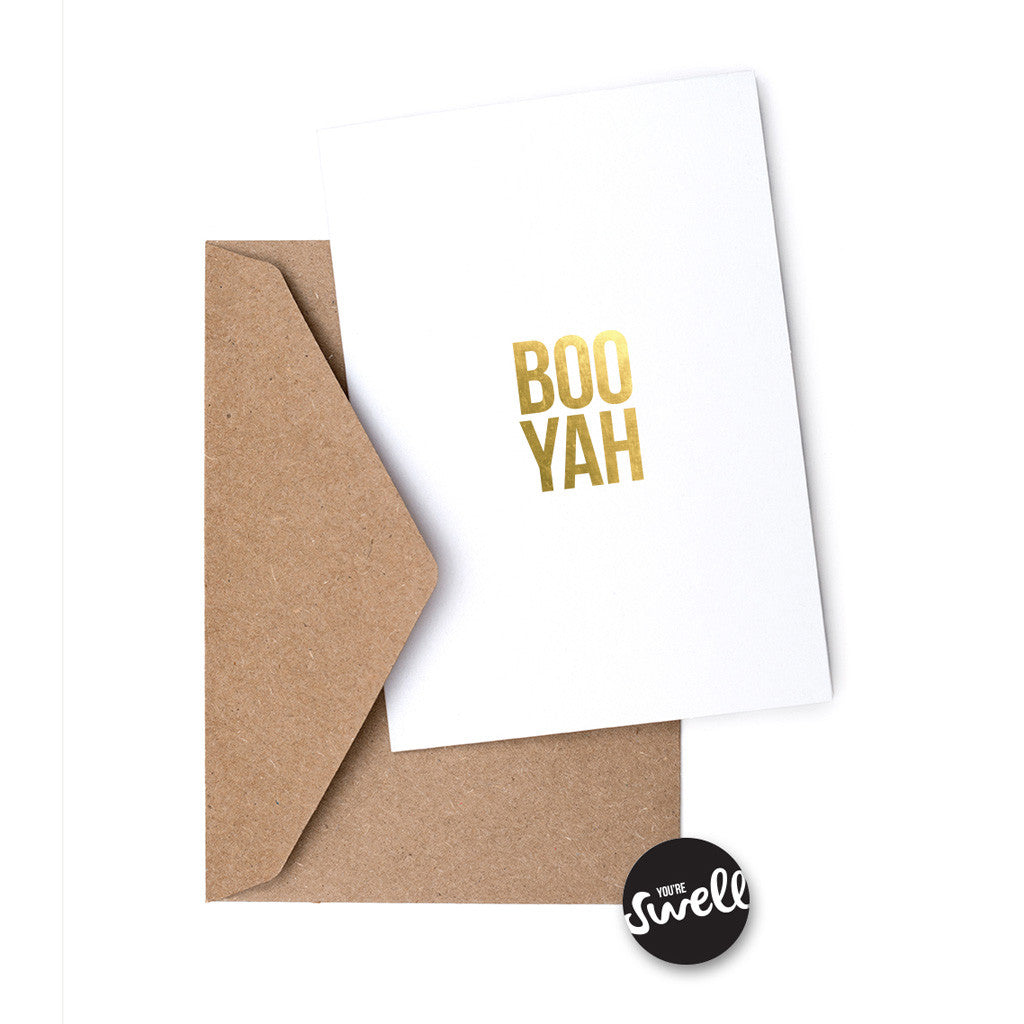 Swell Made - Boo Yah Greeting Card