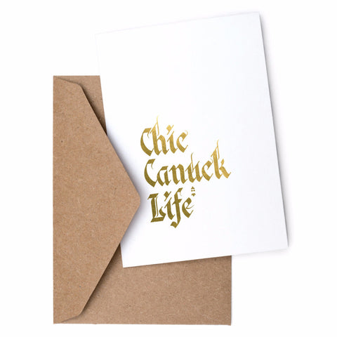 TCC x Swell Made Exclusive  - Chic Canuck Life Greeting Card