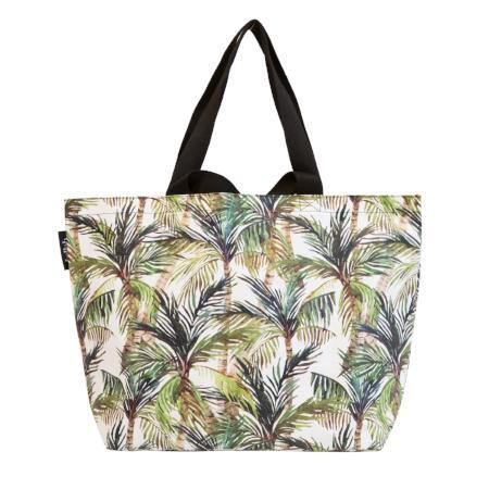 Shopper Tote Green Palm