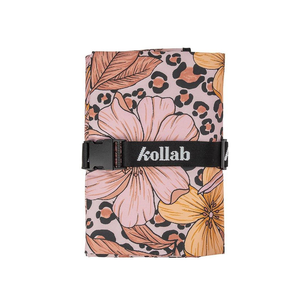 Mini Mat Leopard Floral  - perfect to share with someone special! - kollabsupply