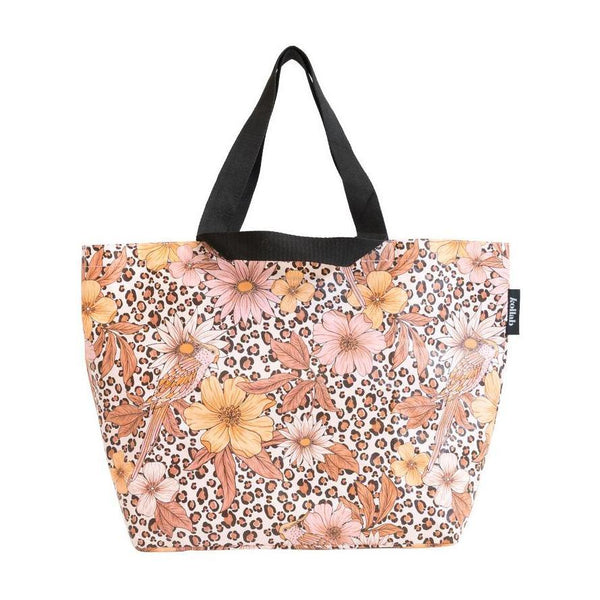 Shopper Tote Leopard Floral - kollabsupply