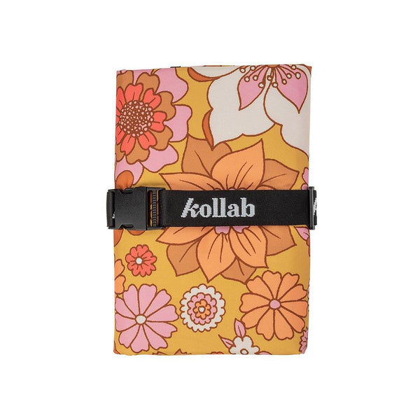 Mini Mat Retro Mustard Floral   - perfect to share with someone special! - kollabsupply