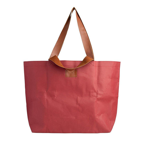 PAPER By Kollab Shopper Tote Burgundy - kollabsupply