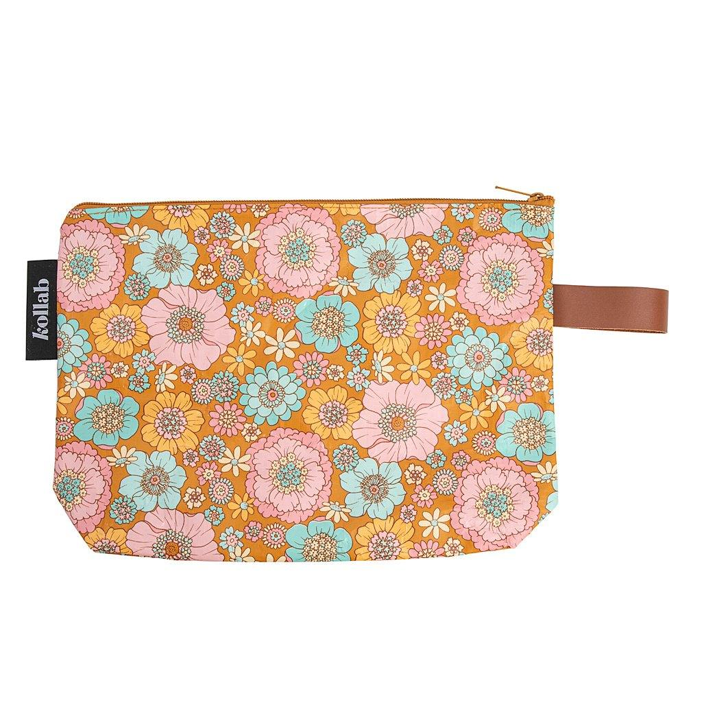 Clutch Retro Aqua Floral - NEW! - kollabsupply