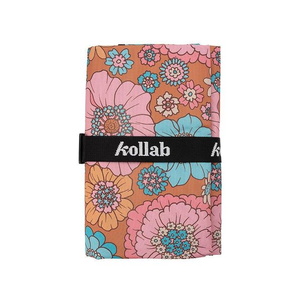 Mini Mat Retro Aqua Floral  - perfect to share with someone special! - kollabsupply