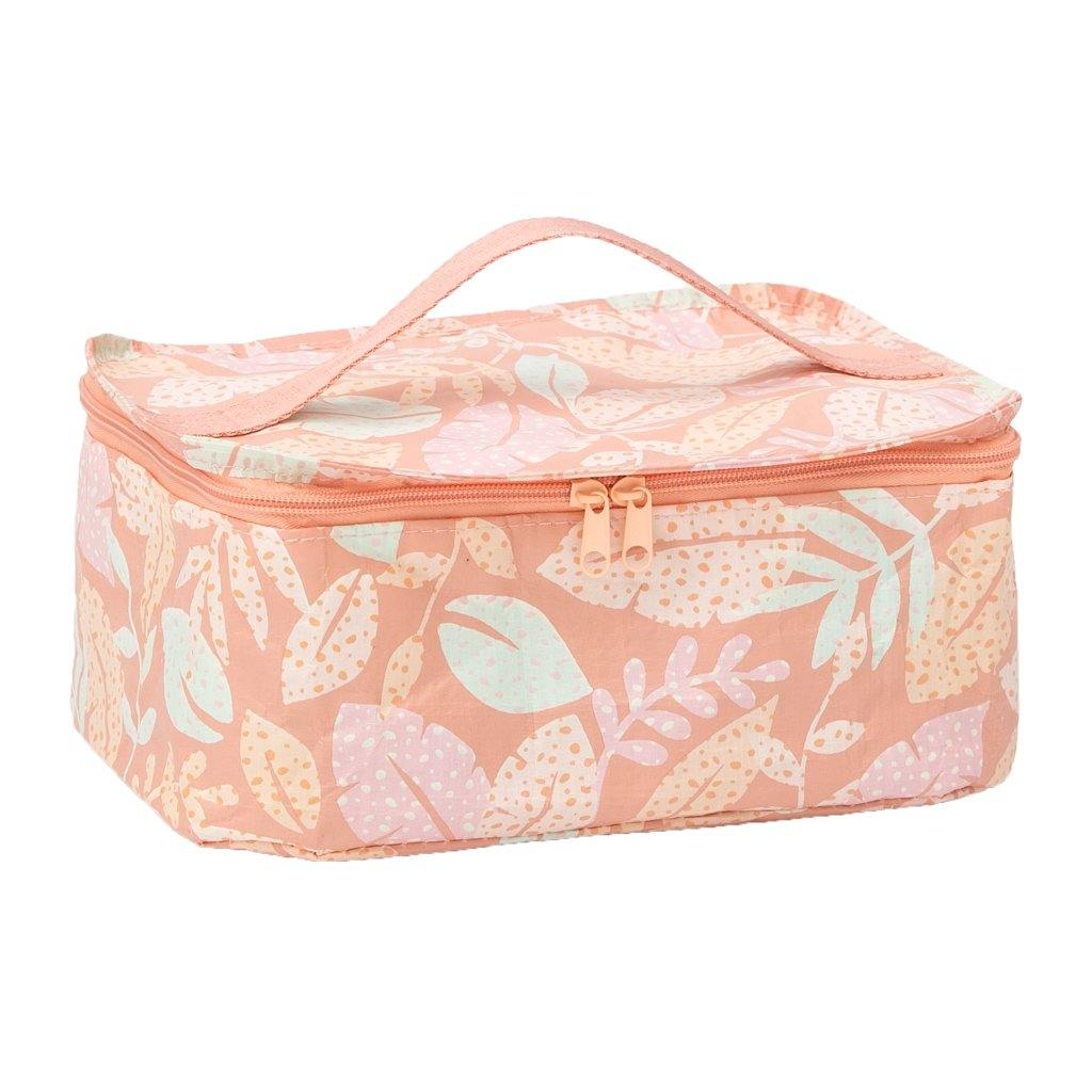 Toiletry Stash Bag Spotty Leaves - kollabsupply