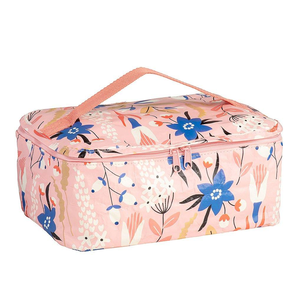 Toiletry Stash Bag Tiny Garden Vintage Field