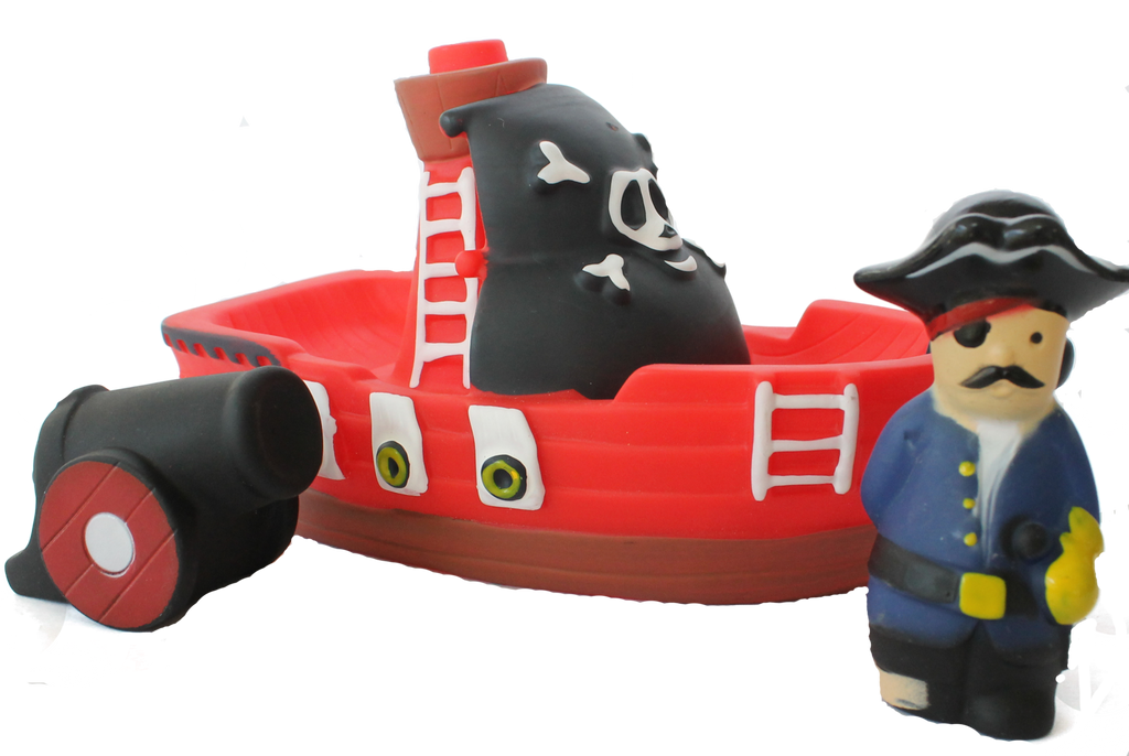 Item #: 122 - Red Pirate Boat – Tub Toy